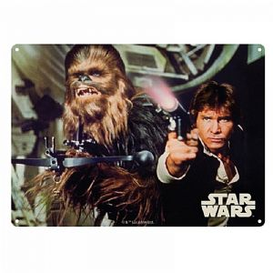 Star Wars Han Solo And Chewbacca metal sign 400mm x 300mm  (og)